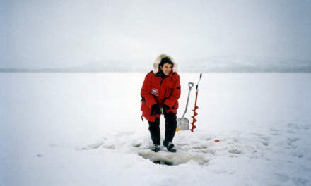 Ice fishing on the Iso-Vietonen