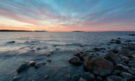 Sun rise at the Baltic Sea