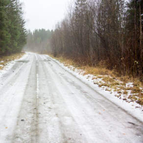 Wet ice road
