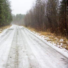 Wet ice road
