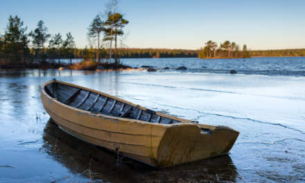 Icebound boat – day version