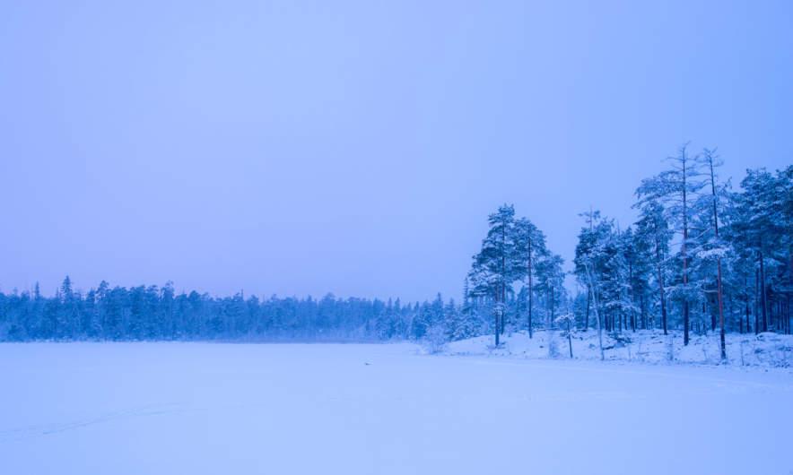 The snowy Rudtjärnen