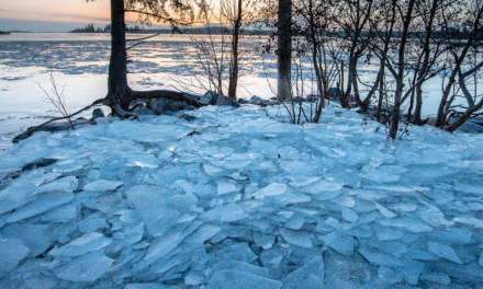 Stacked ice floes