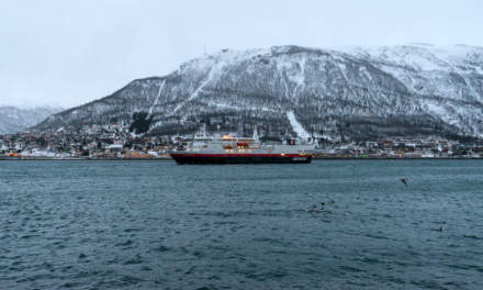 Hurtigruten on the Tromsøysund