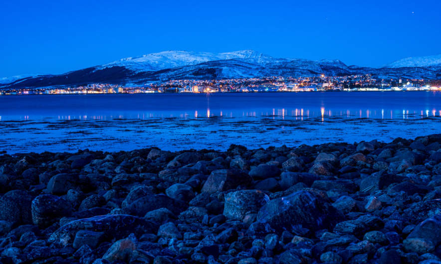 Sortland in the blue hour