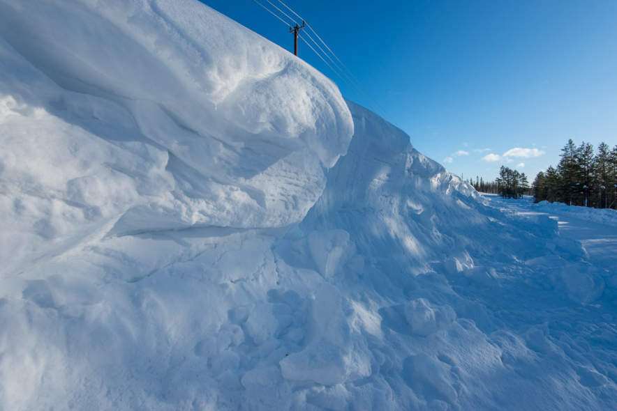 Snow bank near Högträsk