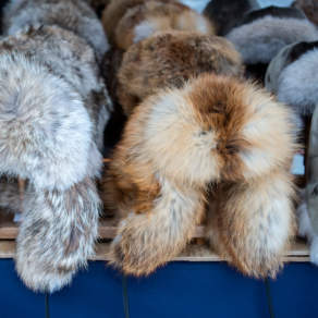 Warm fur hats