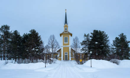 Pajala church (slightly leaning)