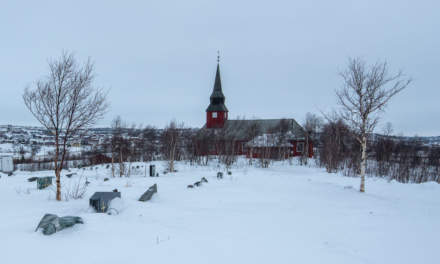 Snowed in graveyard
