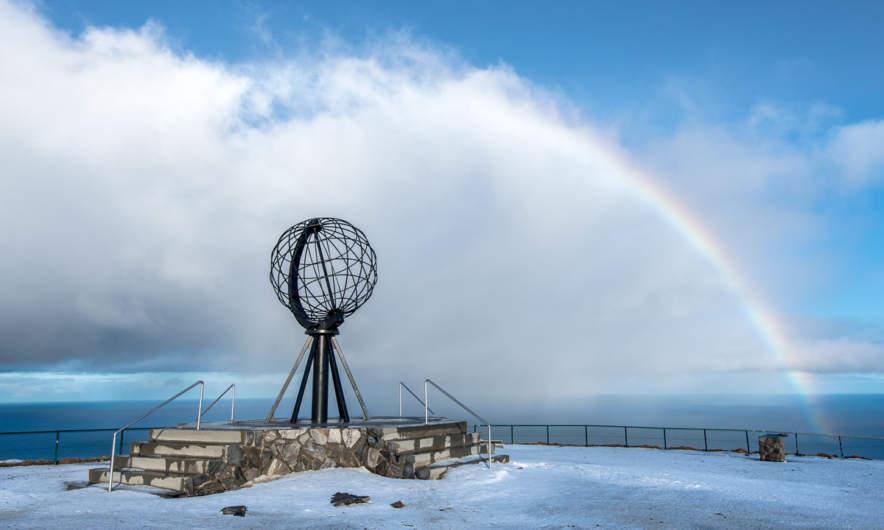 North Cape and rainbow
