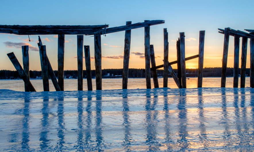 Old pier in Skelleftehamn