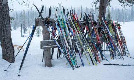 We are not alone – one of the two ski racks