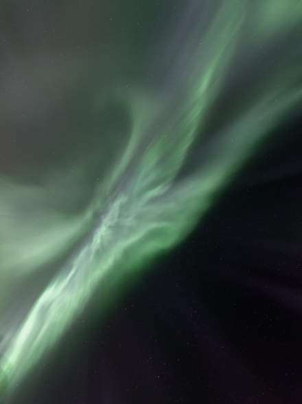 Northern Lights in the zenith