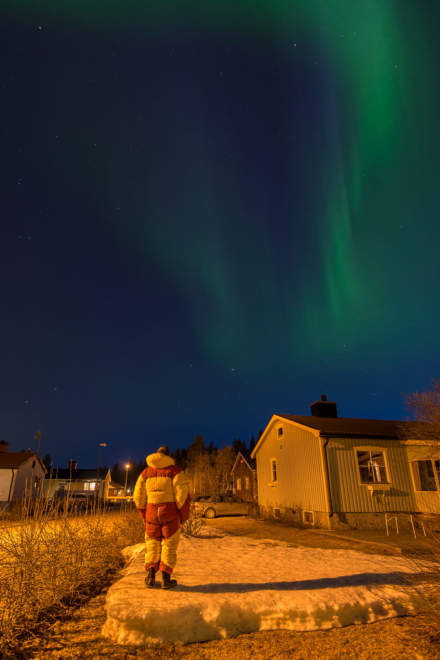 The Northern Lights, my house and me