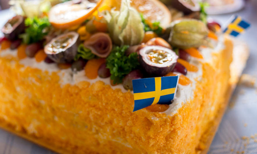A typical Swedish dish: Smörgåstorta