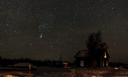 Starry night above Solberget
