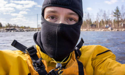 Selfie: It's still quite cold on the sea