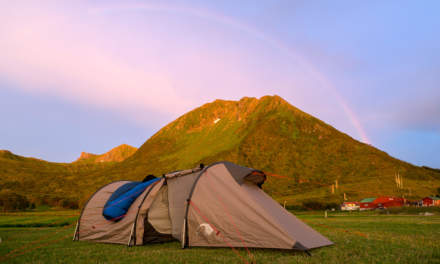 Rainbow above our tent