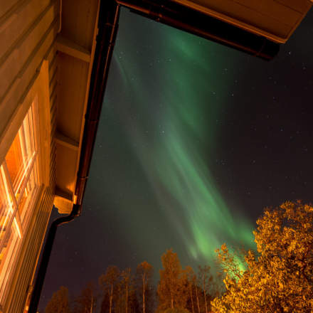 Polar light in front of my house – first weaker …