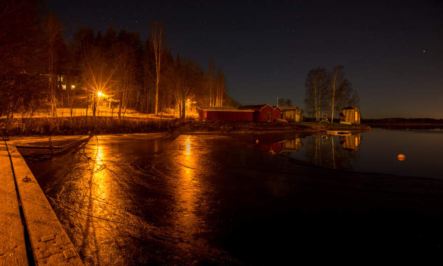 Kanotudden at night