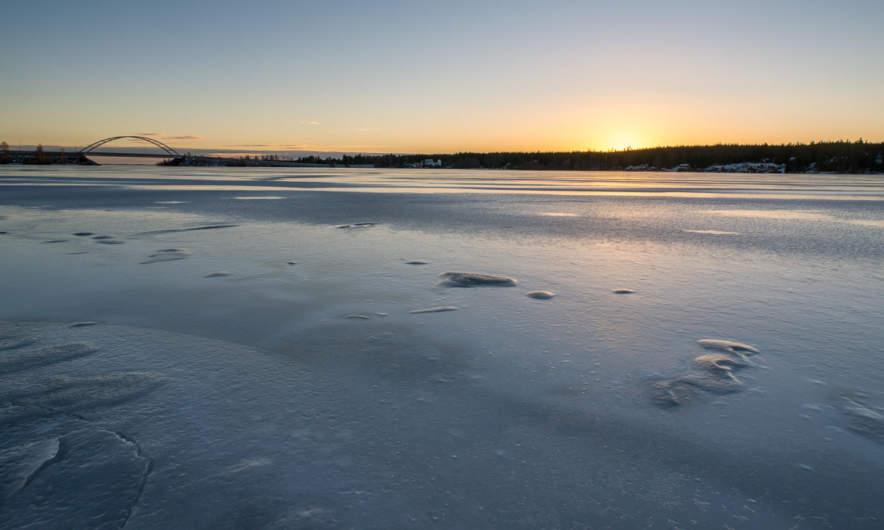 Frozen Skellefteälven