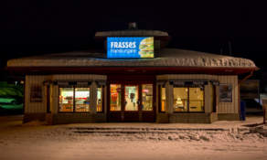 Frasses burger – very common in the north of Sweden