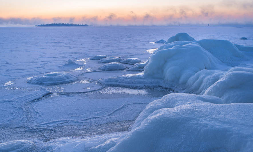The Baltic Sea is frozen