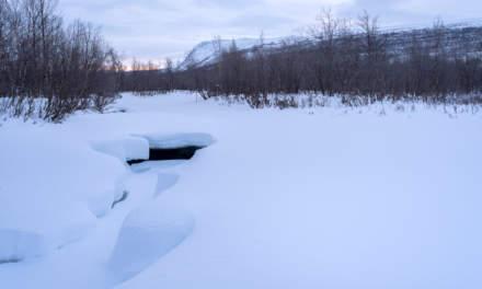 Frozen river Čievrragorsa