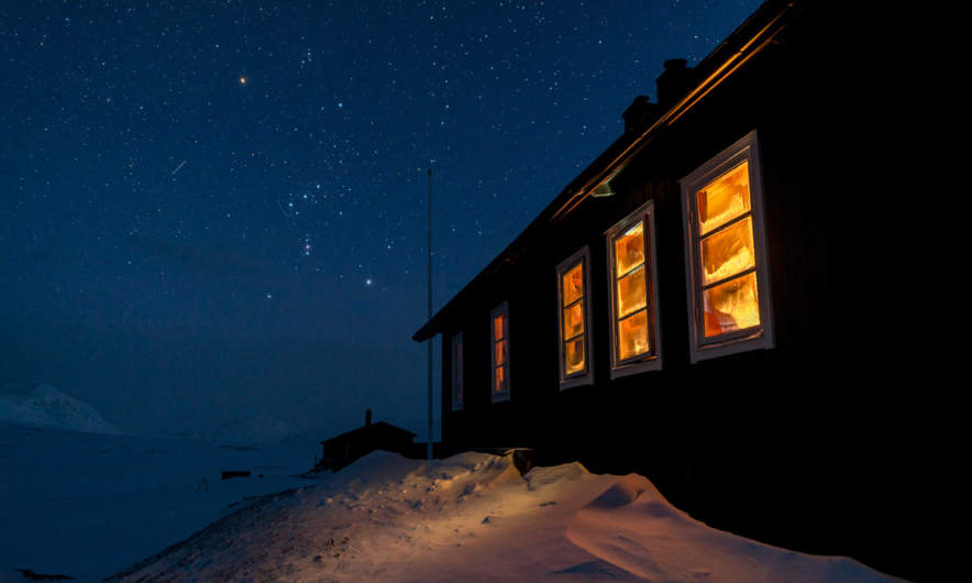 Starry night over Sälka