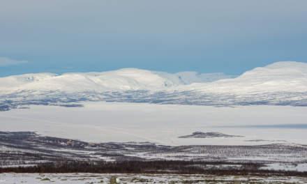 View over the Lake Torneträsk, Abisko on the left side