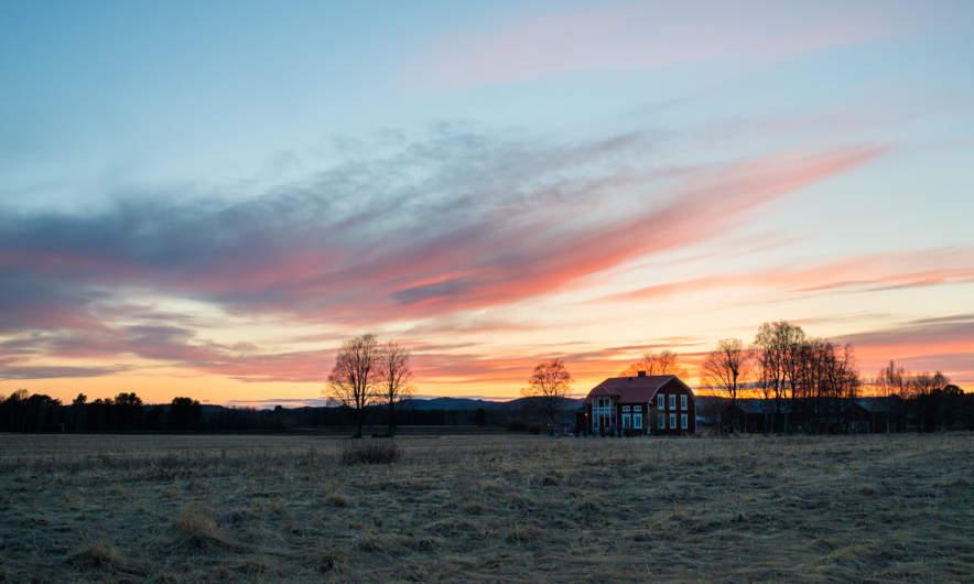 Sunset in Söråsele