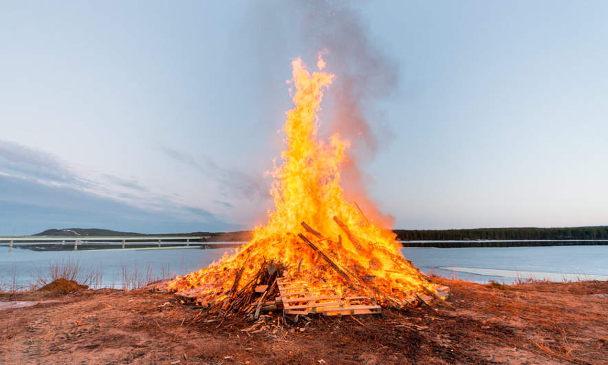 Bonfire in Kusfors on the Walpurgis Night