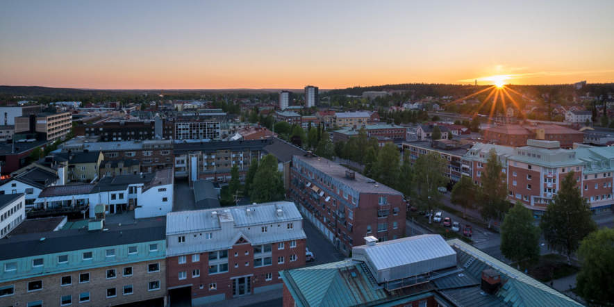 View over Skellefteå (west)