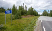 km 211 –Entering Sweden, but only for some kilometres.