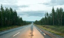 km 631 – Rokåberg. The roads are much less bended than in Norway.