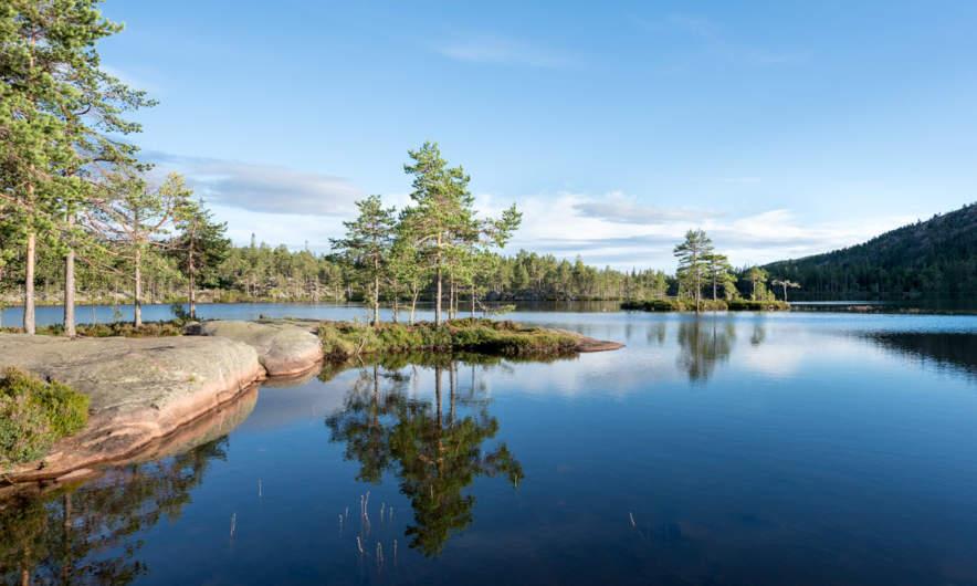 The lake Tärnättvattnen