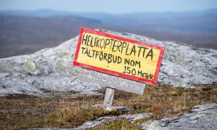 Blåhammaren fjällstation – helicopter landing field