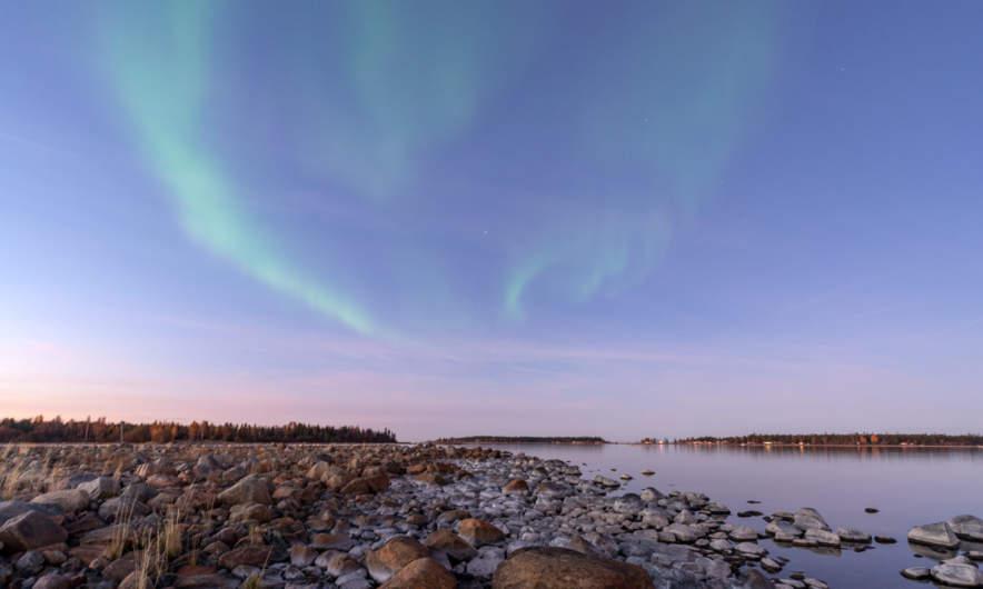 18:19 – early aurora in Skelleftehamn