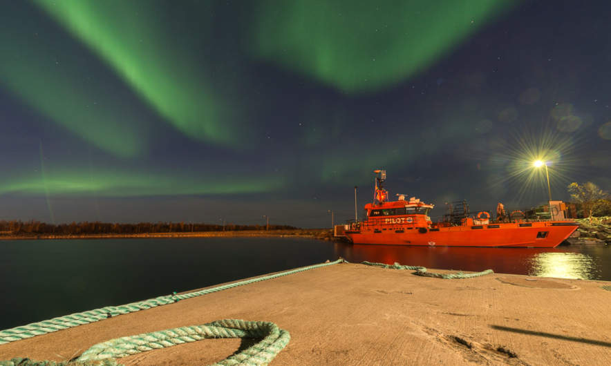 19:05 –pilot vessel in Skelleftehamn