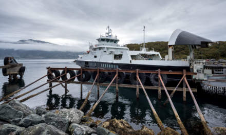 The 1st ferry of the day: Torghatten