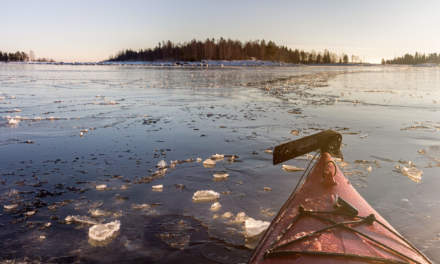Traversing the ice – looking behind