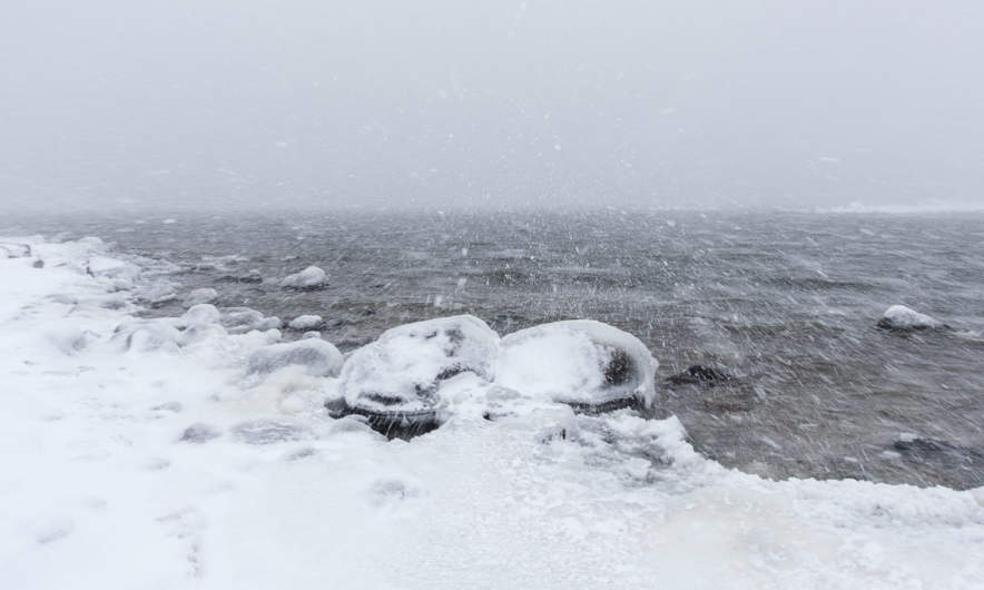 Much snow at the Baltic Sea, but still no ice cover