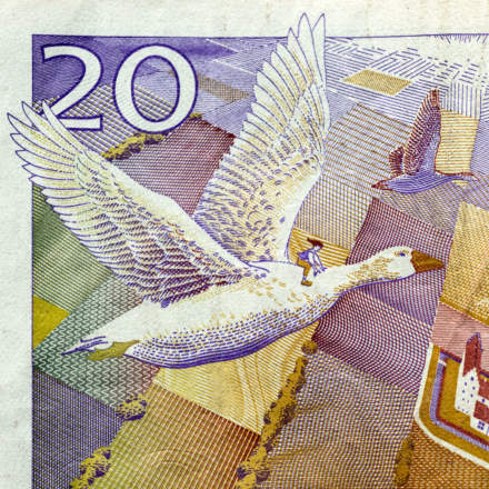 The old 20 kronor bill