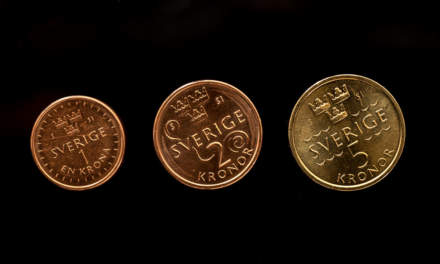 The new coins: 1kr, 2kr, 5kr