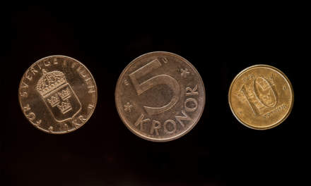 The old coins: 1kr, 5kr, 10kr