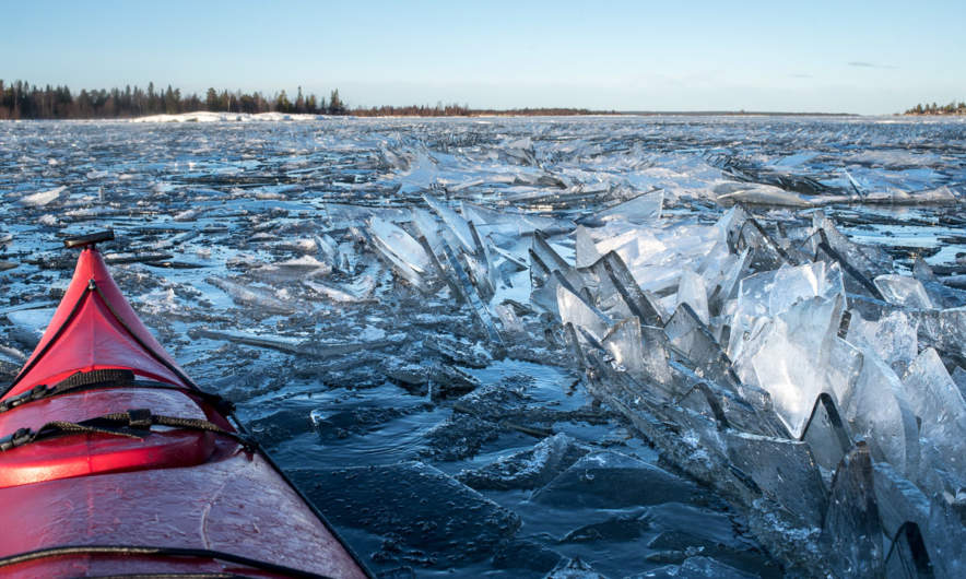 Back through the drifting ice