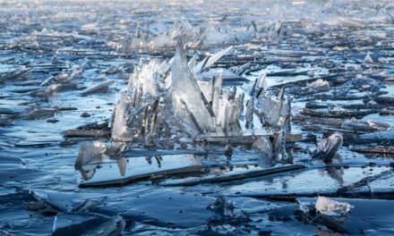 Broken ice floes –detail