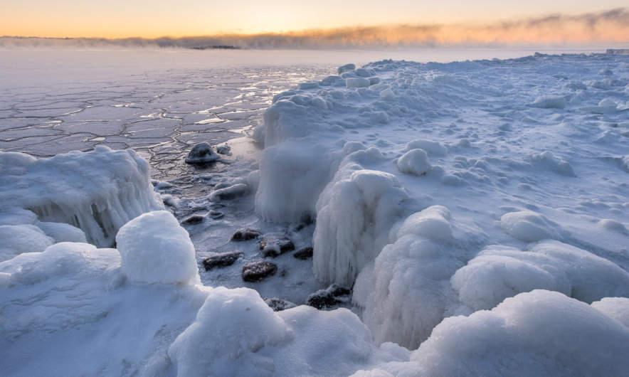 Frozen coast in Skelleftehamn I