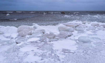 Icy coast outside of the island Storgrundet
