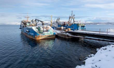 Russian crab fishing boats